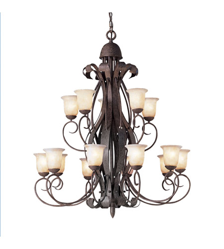 Kichler Lighting High Country 15 Light Chandelier in Old Iron 2111OI photo