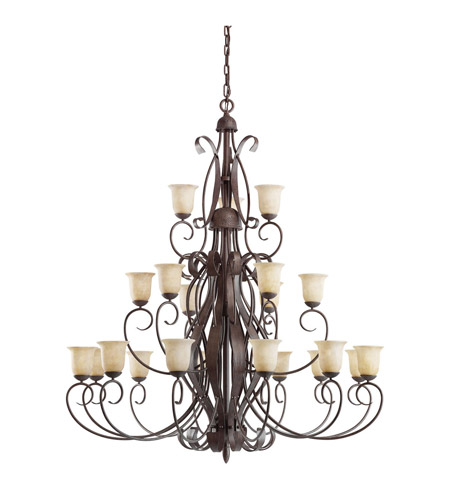 Kichler Lighting High Country 21 Light Chandelier in Old Iron 2114OI photo