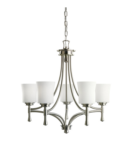 Kichler Lighting Wharton 5 Light Chandelier in Brushed Nickel 2120NI
