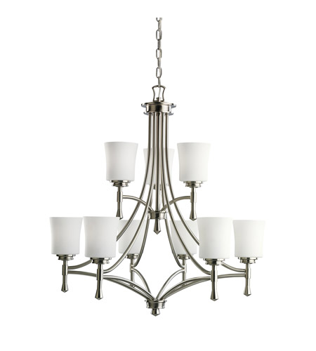 Kichler Lighting Wharton 9 Light Chandelier in Brushed Nickel 2121NI photo