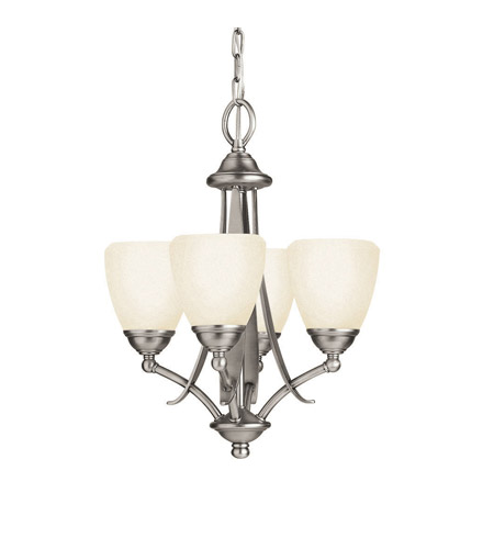 Kichler Lighting Lombard 4 Light Mini Chandelier in Antique Pewter 2127AP photo