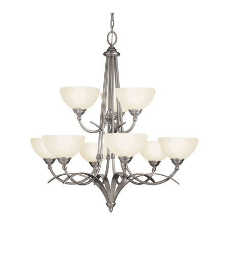 Kichler Lighting Lombard 9 Light Chandelier in Antique Pewter 2133AP