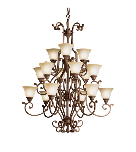 Kichler Lighting Larissa 15 Light Chandelier in Tannery Bronze w/ Gold Accent 2218TZG photo