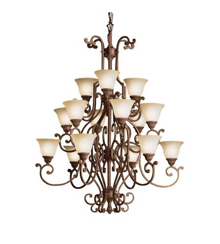Kichler lighting larissa 15 light chandelier in tannery bronze w kichler lighting larissa 15 light chandelier in tannery bronze w gold accent 2218tzg aloadofball Choice Image
