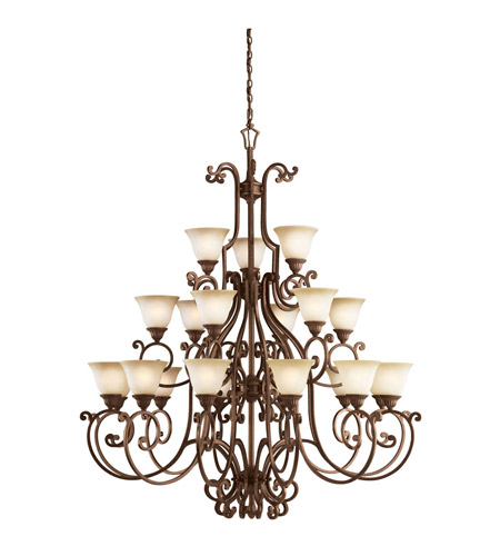Kichler Lighting Larissa 21 Light Chandelier in Tannery Bronze w/ Gold Accent 2219TZG