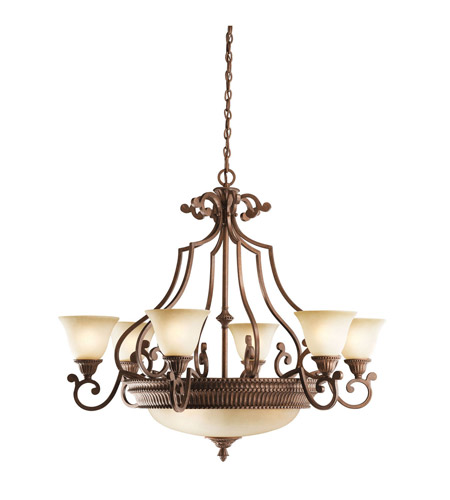 Kichler Lighting Larissa 9 Light Chandelier in Tannery Bronze w/ Gold Accent 2313TZG photo