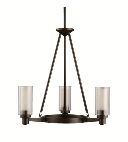 Kichler Lighting Circolo 3 Light Chandelier in Olde Bronze 2343OZ photo