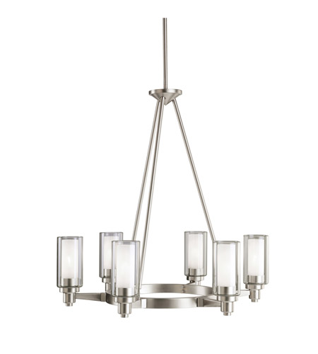 Kichler 2344NI Circolo 6 Light 26 inch Brushed Nickel Chandelier Ceiling Light photo