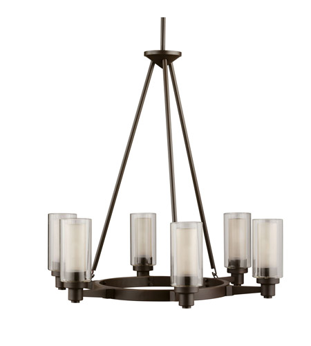 Kichler 2344OZ Circolo 6 Light 26 inch Olde Bronze Chandelier Ceiling Light photo