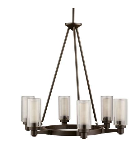 Kichler 2344oz Circolo 6 Light 26 Inch Olde Bronze Chandelier Ceiling
