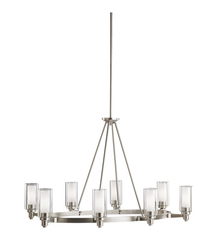 Kichler 2345ni Circolo 8 Light 25 Inch Brushed Nickel Chandelier Ceiling