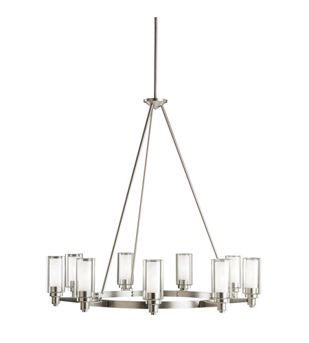 Kichler Lighting Circolo 9 Light Chandelier in Brushed Nickel 2346NI photo