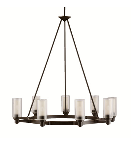 Kichler 2346oz Circolo 9 Light 36 Inch Olde Bronze Chandelier Ceiling