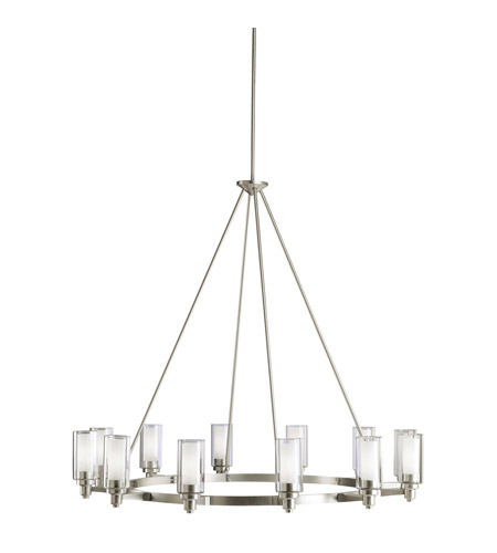 Kichler 2347ni Circolo 12 Light 45 Inch Brushed Nickel Chandelier Ceiling
