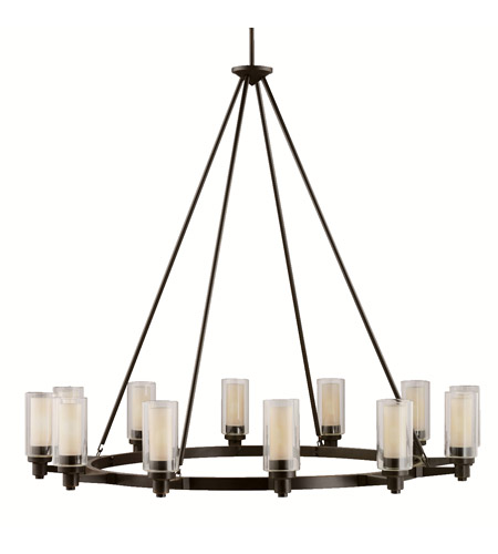 Kichler Lighting Circolo 12 Light Chandelier in Olde Bronze 2347OZ photo