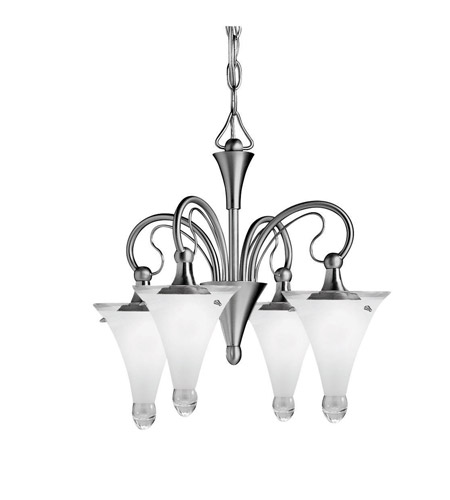 Kichler Lighting Raindrops 4 Light Mini Chandelier in Brushed Nickel 2353NI