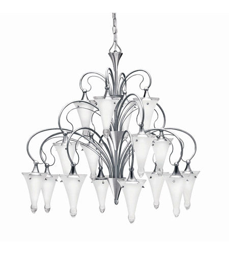 Kichler Lighting Raindrops 16 Light Foyer Chandelier in Brushed Nickel 2386NI