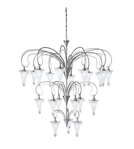 Kichler Lighting Raindrops 21 Light Chandelier in Brushed Nickel 2387NI photo