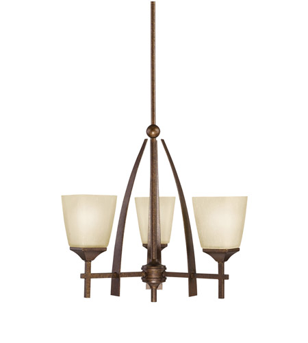 Kichler Lighting Souldern 3 Light Chandelier in Marbled Bronze 2412MBZ