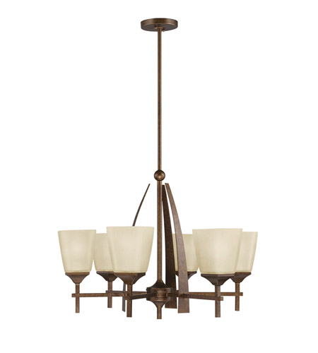 Kichler Lighting Souldern 6 Light Chandelier in Marbled Bronze 2413MBZ photo
