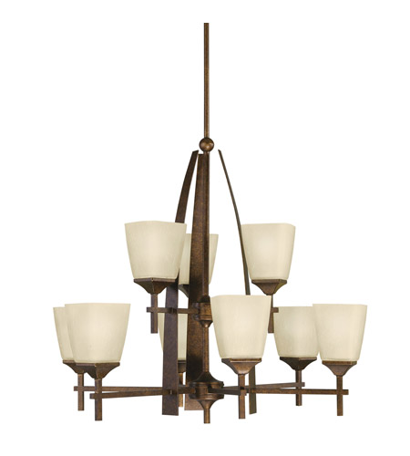 Kichler Lighting Souldern 9 Light Chandelier in Marbled Bronze 2415MBZ photo