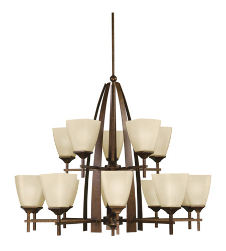 Kichler Lighting Souldern 15 Light Chandelier in Marbled Bronze 2416MBZ photo
