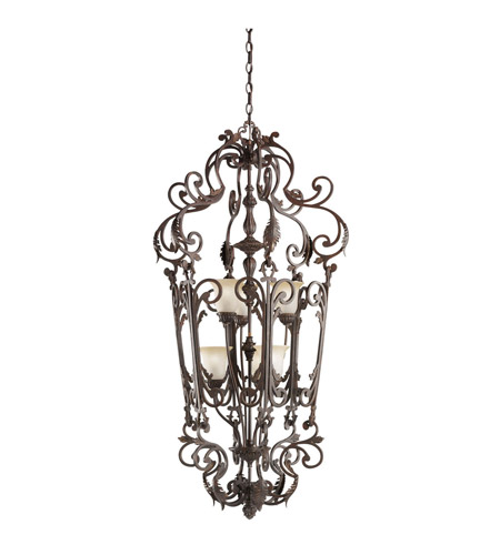 Kichler Lighting Wilton 6 Light Foyer Chain Hung in Carre Bronze 2471CZ