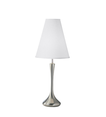Kichler Lighting New Traditions 1 Light Table Lamp in Brushed Nickel 24802CA