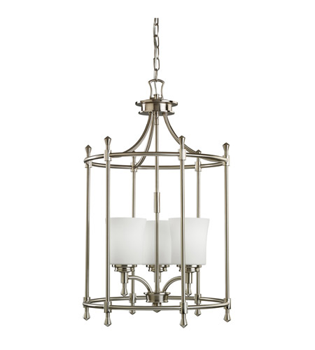 Kichler 2518NI Wharton 3 Light 17 inch Brushed Nickel Foyer Chain Hung Ceiling Light photo