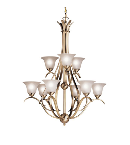 Kichler Lighting Dover 9 Light Chandelier in Antique Brass 2520AB photo