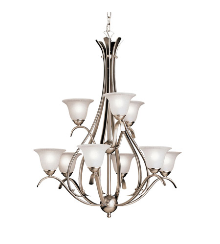 Kichler Lighting 9 Light Dover Chandelier in Brushed Nickel 2520NI photo