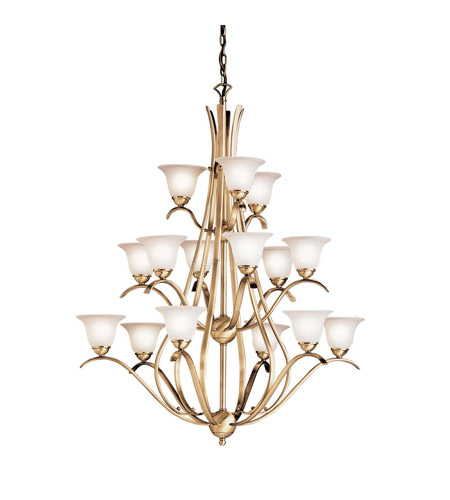 Kichler Lighting Dover 15 Light Chandelier in Antique Brass 2523AB