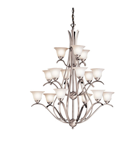 Kichler Lighting Dover 15 Light Chandelier in Brushed Nickel 2523NI photo