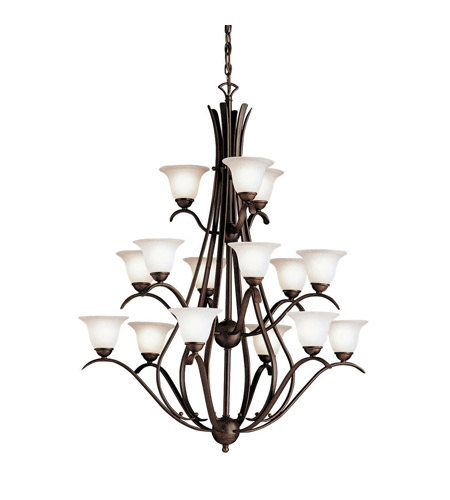Kichler Lighting Dover 15 Light Chandelier in Tannery Bronze 2523TZ