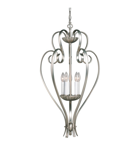 Kichler Lighting Willowmore 5 Light Foyer Chain Hung in Brushed Nickel 2529NI