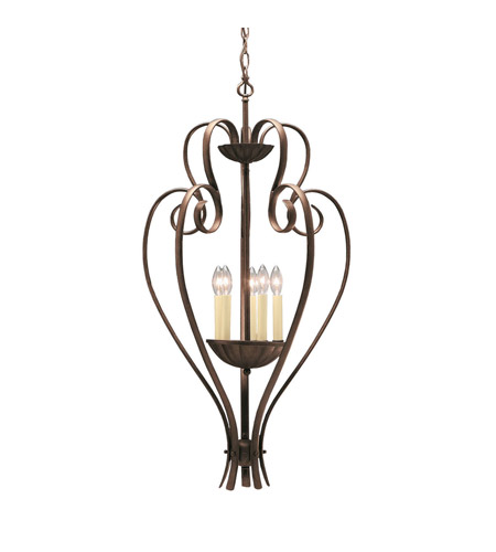 Kichler Lighting Willowmore 5 Light Foyer Chain Hung in Tannery Bronze 2529TZ
