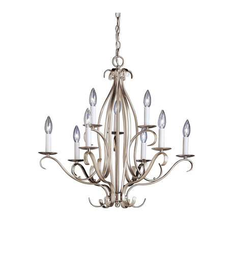 Kichler Lighting Portsmouth 9 Light Chandelier in Brushed Nickel 2534NI photo
