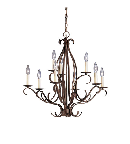 Kichler Lighting Portsmouth 9 Light Chandelier in Tannery Bronze 2534TZ photo