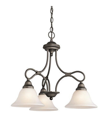 Kichler 2556OZ Stafford 3 Light 22 inch Olde Bronze Chandelier Ceiling Light photo