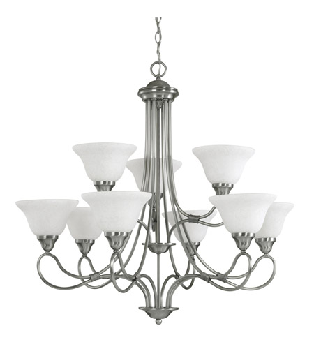 Kichler Lighting Stafford 9 Light Chandelier in Antique Pewter 2558AP