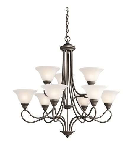 Kichler Lighting Stafford 9 Light Chandelier in Olde Bronze 2558OZ photo