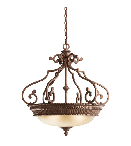 Kichler Lighting Larissa 3 Light Inverted Pendant in Tannery Bronze w/ Gold Accent 2613TZG photo