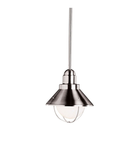Kichler Lighting Seaside 1 Light Outdoor Pendant in Brushed Nickel 2621NI photo