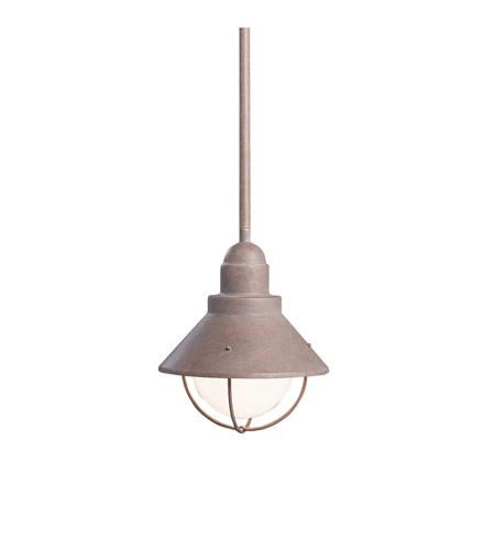 Kichler Lighting Seaside 1 Light Outdoor Pendant in Olde Brick 2621OB