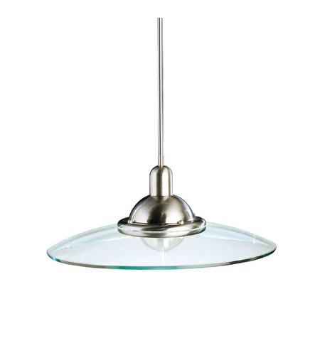 Kichler Lighting Galaxie 1 Light Pendant in Brushed Nickel 2640NI