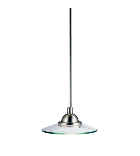 Kichler Lighting Galaxie 1 Light Mini Pendant in Brushed Nickel 2641NI