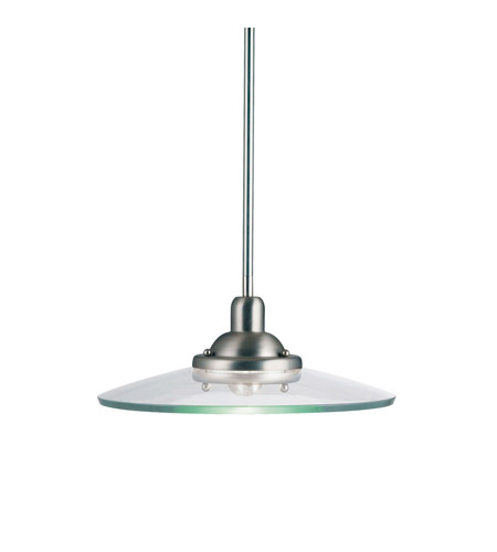 Kichler Lighting Galaxie 1 Light Pendant in Brushed Nickel 2643NI