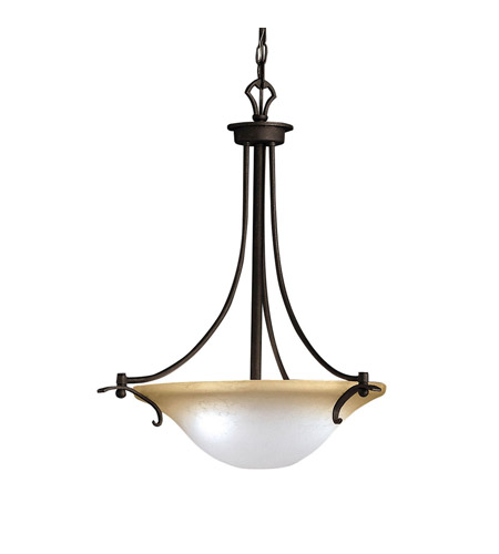 Kichler Lighting Pomeroy 3 Light Inverted Pendant in Distressed Black 2644DBK