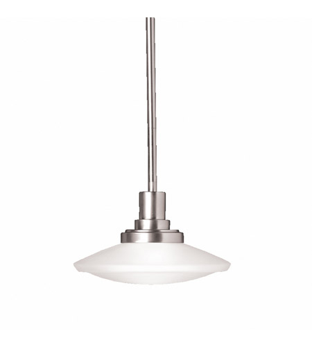 Kichler 2655NI Structures 1 Light 9 inch Brushed Nickel Mini Pendant Ceiling Light photo