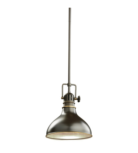 Kichler 2664OZ Hatteras Bay 1 Light 8 inch Olde Bronze Mini Pendant Ceiling Light photo
